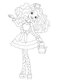 Free Printable Ever After High Madeline Hatter Coloring Page