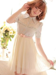 the first spring pleated chiffon dress: http://www.asianicandy.com/collections/shop-kawaii-dresses/products/2wol2buk
