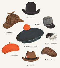 Hat Collection Print