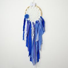 Dream catcher Kids Teepee Decoration Wall art dreamcatcher wall hanging mobile- Dark Blue Sky by MamaPotrafi on Etsy