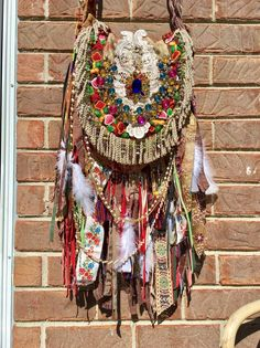 Handmade Ibiza Festival Gypsy Fringe CrossBody Bag Tapestry BohoHobo Purse B.Joy  | eBay