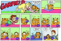 Garfield Quotes, Garfield And Odie, Garfield Comics, Hagar The Horrible, The Jersey Devil, Online Comics, Cartoon Memes, Fat Cats, Calvin And Hobbes