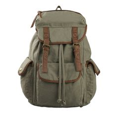 Hynes Eagle Multi Pockets Canvas Backpack School Travel Rucksack 25 Liter >>> You can get more details by clicking on the image.