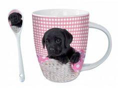 Tiermotiv TassenHunde Motiv Tasse: Süßer Labrador + GRATIS LÖFFEL!