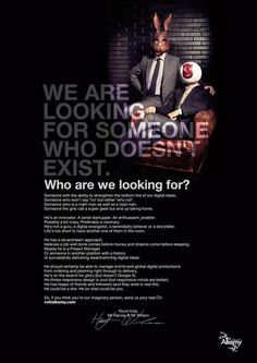 55 Great Job Recruitment Ads From Around the World - Advertising Job - Ideas of Advertising Job - job listing for a person who doesnt exist recruitment marketing kampagne