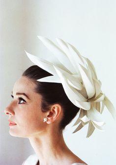 Audrey Hepburn with outstanding hat