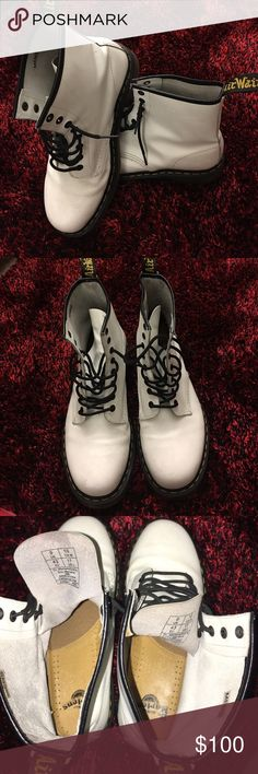 Dr. Martens Men's Shoes Dr. Martens. Never worn. Has minor scratches on the edges. Size 10- Men's Dr. Martens Shoes Combat & Moto Boots