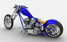west coast choppers....beautiful blue color!!