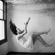 """""""I have this fear of drowning, but not in water. I fear of drowing in a depth of loneliness."""""""