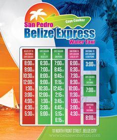 Water Taxi Schedule - Belize