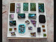 Dichroic cabochons and scrap 1b - How to Fuse Glass - Dichroic Glass Man - YouTube