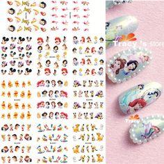 11 folhas 11 estilos BLE489 499 Nail Art transferência de água etiqueta decalques dos desenhos animados princesa projeto adesivos Wraps dicas de decoração em Adesivos de Health & Beauty no AliExpress.com | Alibaba Group