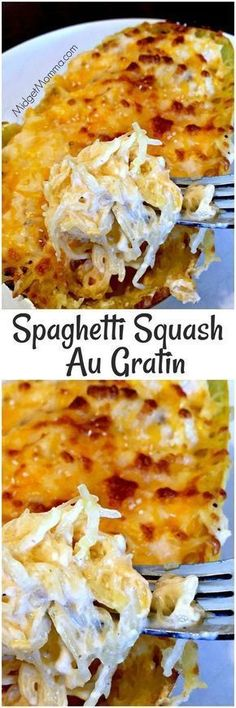 The Most Popular: Spaghetti Squash Au Gratin. Easy to make meal that is filled with veggies. Spaghetti Squash Au Gratin is the perfect meal for anytime! Veggie Dishes, Vegetable Recipes, Food Dishes, Side Dishes, Dinner Dishes, Weight Watcher Desserts, Paleo Recipes, Low Carb Recipes, Cooking Recipes