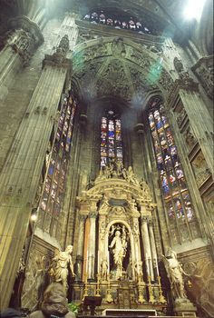 Inside Duomo di Milano. Shelby and I will probably sing songs from the Hunchback of Notre Dame.