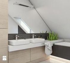 Projekt domu jednorodzinnego 8 - Łazienka, styl nowoczesny - zdjęcie od BAGUA Pracownia Architektury Wnętrz