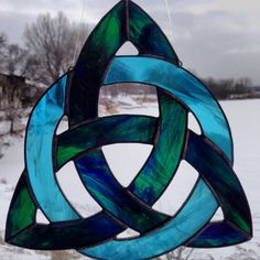 Stained Glass Celtic Knot Triquetra by Sweveneers on Etsy, $45.00