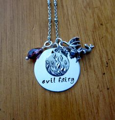 "Disney's Sleeping Beauty Inspired Necklace. Villain Maleficent ""evil fairy"" by WithLoveFromOC, $22.00 & free shipping."