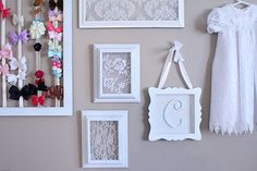 do it yourself divas: DIY: Framed Lace for Baby Girl Nursery