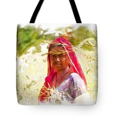 """Farmers Fields Harvest India Rajasthan 8 Tote Bag 18"""" x 18"""""""