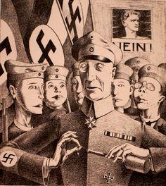 Georg Scholz, Vaterländische Erziehung  Patriotic Education (1923)