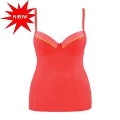 Toon details van Curvy Kate Swim Bon Voyage Tankini CS3216 Saffron 65-90 Cup D t/m K