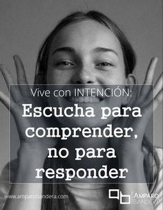 Está presente para quien está hablando contigo, ESCUCHA con la intención de comprender lo que te dice... tu comunicación y resultados mejorarán en gran medida. Amparo Bandera #Terapia #Bienestar #DedidoSerFeliz #SaludEmocional #Comunicación