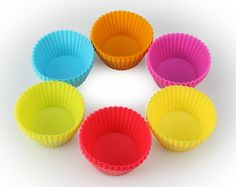 Artestia Premium Nonstick Silicone Baking Cups / Cupcake Liners with Clear Storage Container, Set of 24 in 6 Vibrant Colors >> Check this awesome image : baking essentials