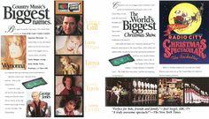 The 1996 Grand Palace Theatre brochure.  Branson, Missouri
