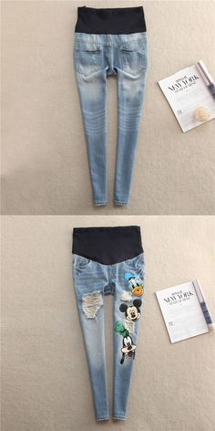 Maternity pregnancy jeans maternity jean pants for pregnant women Elastic waist Adjustable jean pregnant pregnancy clothes #pregnancypants,
