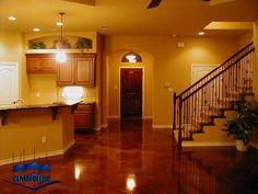 house colors with dark stained concrete floors   Elegancia, exclusividad y belleza.