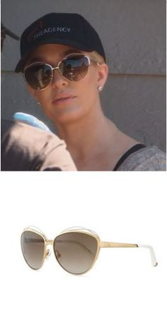 Erika Girardi's Gold & White Dior Butterfly Sunglasses http://www.bigblondehair.com/real-housewives/rhobh/erika-girardis-gold-sunglasses/