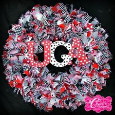 Image detail for -Georgia Bulldogs Rag Wreath by WaywardNest on Etsy
