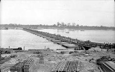 A Class 40 pontoon bridge over the Rhine, 25 March 1945
