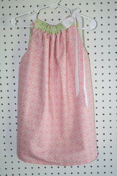 Pink/Green Reversible Pillowcase dress by lClaireBearBoutiquel, $30.00