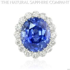 blue jewelry | Natural Blue Sapphire Ring Gold Jewelry J2565 Front
