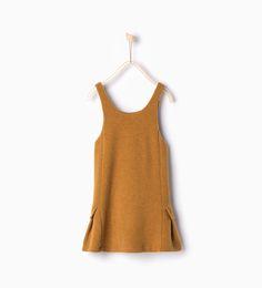 Image 1 of Wool pinafore dress from Zara