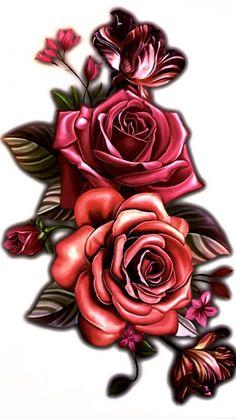 Large Rose Temporary Tattoo