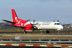 Saab 2000 aircraft picture.  Darwin Airlines Paris - Charles de Gaulle (Roissy) (CDG / LFPG) France, December 29, 2013