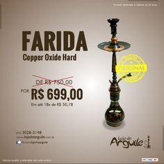 FARIDA - Copper Oxide Hard  DE R$ 750,00 / POR R$ 699,00 Em até 18x de R$ 50,78 ou R$ 664,05 via depósito  Compre Online: http://www.lojadoarguile.com.br/farida-copper-oxide-hard