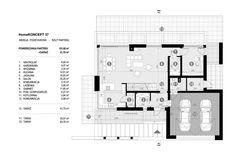 DOM.PL™ - Projekt domu CPT HomeKONCEPT-37 CE - DOM CP1-42 - gotowy koszt budowy Modern Family House, Modern House Plans, Dream Home Design, My Dream Home, 2 Storey House Design, Pergola, Floor Plans, How To Plan, House Styles