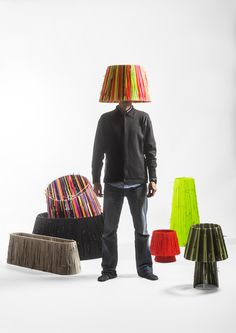 Shoelaces lamps by Curro Claret with Metalarte * Shock of the Lighting * The Inner Interiorista