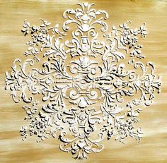 Plaster stencils for ceiling, wall, furniture, etc.lots of French Provençal style possibilities! Stencil Decor, Stencil Painting, Stencil Designs, Plaster Crafts, Plaster Art, Plaster Mouldings, Plaster Molds, Faux Painting, Arte Popular