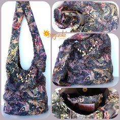 Hippy Satchel, Hobo Bag, School Bag, Shoulder Bag, Purse, Beach Bag, Diaper Bag, Hippie, Gypsy, Travel, Tie Dye Bag on Etsy, $39.00
