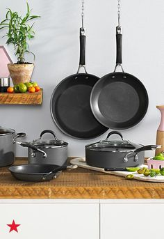 From tossing and stirring to frying and sauteing, you can count on this Circulon nonstick cookware set to take you through every culinary adventure. Shop our Semi Annual Home Sale for the best deals on the collection and more!