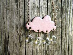 Pink cloud necklace