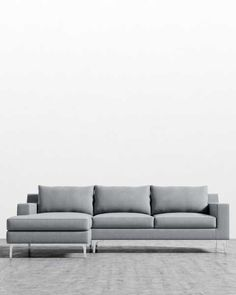 Sit back in contemporary and mid-century modern sofas and sectionals. Sectional Sofa, Sofas, Couch, Emerald Green Sofa, Mid-century Modern, Contemporary, Mid Century Modern Living Room, Custom Sofa, Modular Design