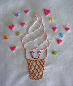 Ice cream embroidery