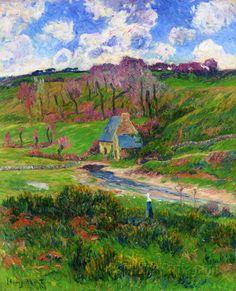 Bretons on the Banks of a River - Henry Moret