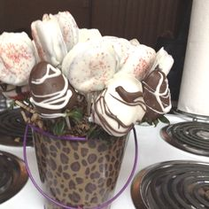 Valentines gift for my man. Chocolate dipped strawberries and chocolate dipped Oreos.
