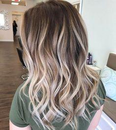 Platinum Blonde Balayage For Brown Hair #BlondeHairstylesIdeas